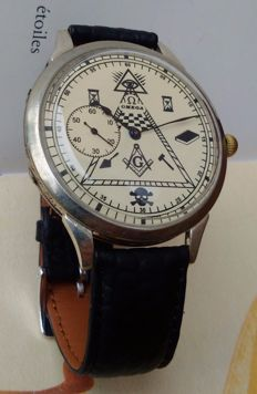 Omega masonic marriage wristwatch for men - Year 1930