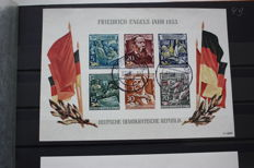 GDR of East Germany 1955/1958 - Marx and monument Buchenwald - Michel block 13 and 15