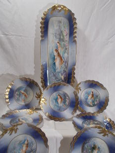 Fish service 13 pieces - Limoges France