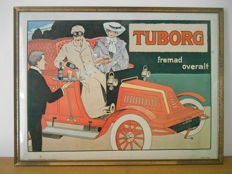 Rare glacoide advertising sign from Tuborg from 1979.