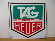 Metal advertising sign Tag Heuer Porsche