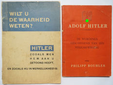 Lot with two Dutch NSB propaganda brochures on Hitler - 1940/1942