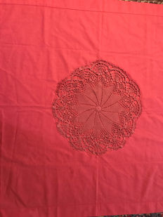 Sicily - square tablecloth with central working in crochet
