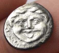 Greek Antiquity - MYSIA, Parion. 4th century BC. AR Hemidrachm Obv.  Gorgoneion