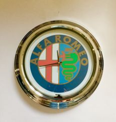 ALFA ROMEO - large lighting Wall-Clock - 2000s