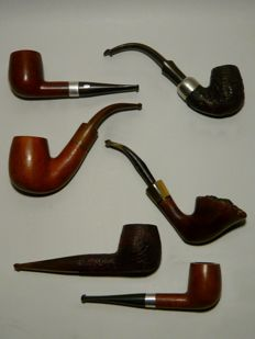 Lot of 6 pipes - Dunhill / Peterson's / Chacom Argent / Butz-Choquin / Courrieu / A l'Oriental