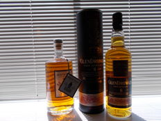 "2 bottles - Säntis Swiss single malt and The Glendronach ""The Hielan"" 8 years old (both OB)"