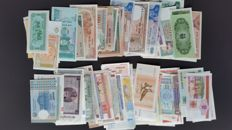 World - Over 100 banknotes from Spain and the world