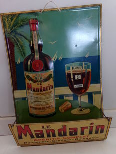 "Enamelled advertising in sheet metal ""LE MANDARIN"""