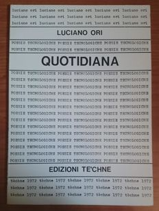 Signed; Luciano Ori – Quotidiana – 1972