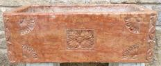 Hand carved Asiago red marble sink - Italy, Asiago - early 19th century