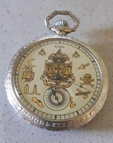 18. Elgin – Freemasons' silver tailcoat watch – USA circa 1920