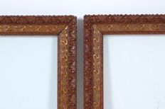 A pair of gilded wood frames - ca. 1900