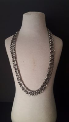 Vintage Necklace in Silver without contrast 100% Handmade with 2 ways to use 925/1000