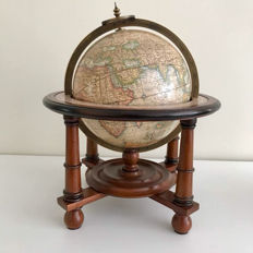 Globe - cherry wood - Metal Globe Ring