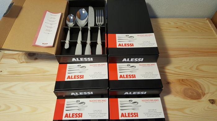 Ettore Sotsass for Alessi - lot of 24 piece 'Nuovo Milano' set