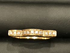 Gold ring (18 kt) and diamonds (0.20 ct) – Italian size 17
