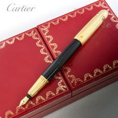 Cartier - Pasha de Cartier  Gold & Black Lacquer Fountain Pen