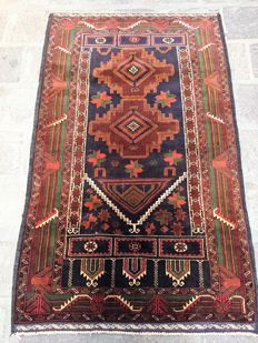 Balochistan rug, extra fine, hand-knotted, measuring 141 x 87 – Iran