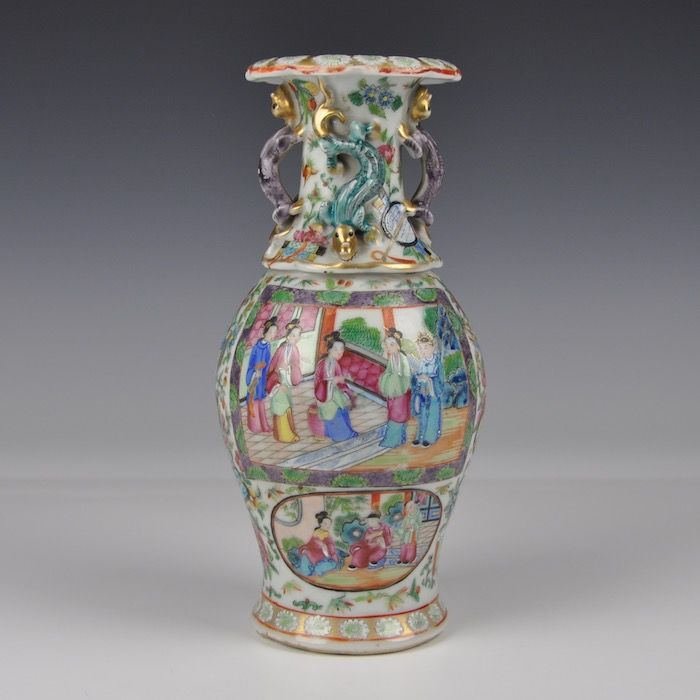 Caonton Famille Rose Vase - China - approx. 1880
