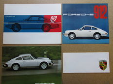 Porsche - Lot of 4 brochures 912, 911, Carrera 6 - around 1960-1970