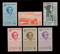 Kingdom of Italy 1935 Centenary of the death of Vincenzo Bellini PO complete series