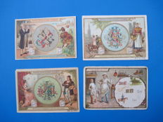 Antique Liebig cards French text. ( 137 x ).