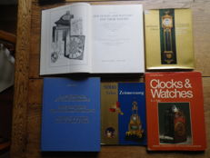 Books about clocks and clock mechanics – 3 in German and 2 in English