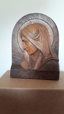 The Virgin Mary - Woodcarving of Emile Le Nanthiec