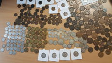 United Kingdom - Farthing up to and including Crown (254 coins) - silver and copper
