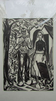 Three prints of Jan Franken Pzn (1896-1977) - Farmers scenes - ca. 1940