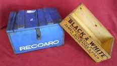 Recoaro advertising box from the 1950s/60s whisky black & white 1950/60