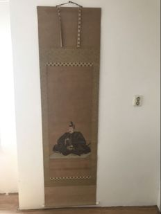A hand painted scroll painting - Japan - second half 20th century