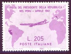 Italy, Republic, 1961 – President Gronchi's visit to South America – Sassone 2017 No. 921