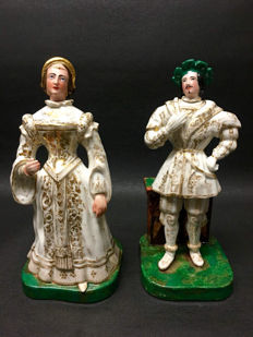 Porcelain Perfume Bottles royals Attributed To Jacob Petit France 19th. Century