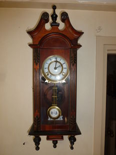 Wall clock – mahogany – regulator – 1970s