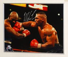 Mike Tyson original autographed framed (large) photo + Certificate of Authenticity from PSA.