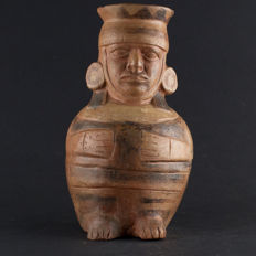 Pre Columbian Moche III/IV Mold Made Jar - 20 cm