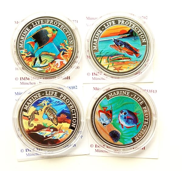 World Lot Of 4 Different Coins 19972000 Marine Life