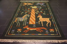 Beautiful oriental carpet, Gabbeh, kilim, rug, 175 x 235 cm, very good condition