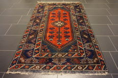 Old Turkish Anatolian Kars Kazak, circa 1960, wool, made in Turkey, 120 x 190 cm