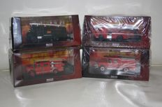 Atlas / Road Signature - Scale 1/43-1/55 - Lot with 6 Fire Trucks