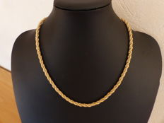 Twisted necklace in two 18 kt golds - 45 cm