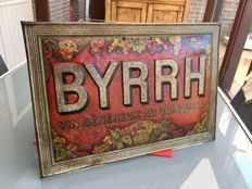 """BYRRH"" metal advertising sign, circa 1900"