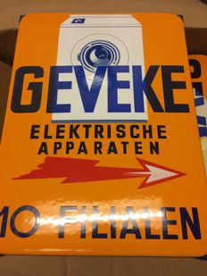 Geveke enamel sign - ca 1950