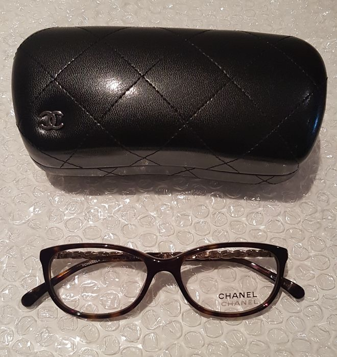 Chanel RX Eyeglasses 3221-Q 1512 Havana+Gold *NO RESERVE PRICE*