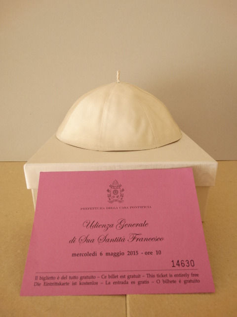 Authentic skullcap Pope Francis  - exclusive opportunity