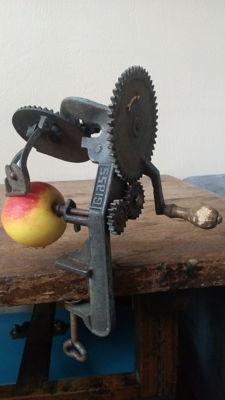 Mechanical apple peeler from England late 19th century