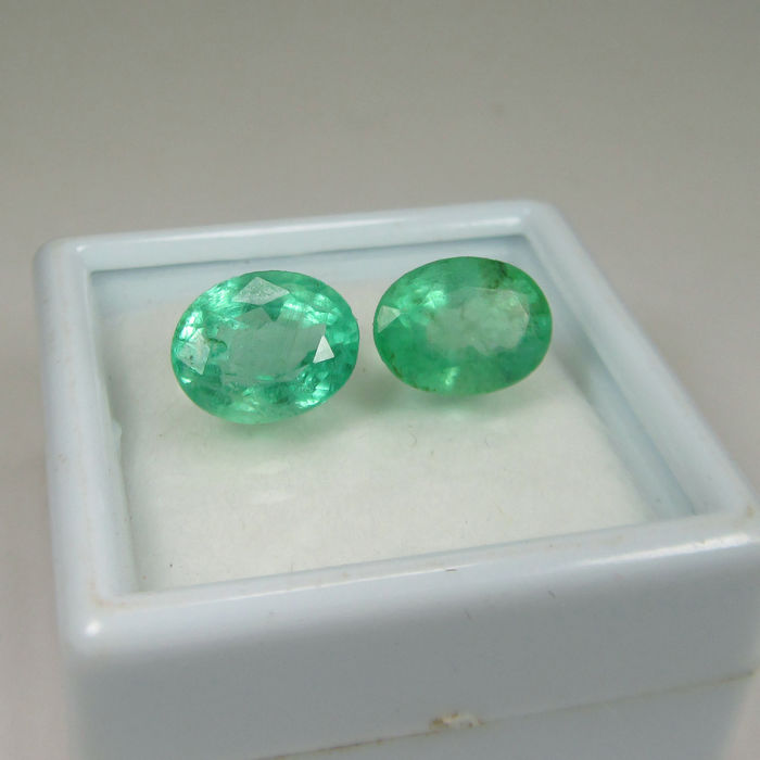 3.50 Ct - Emerald Pair - No Reserve price