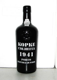 1941 Kopke Colheita Port - 1 bottle in Original Wooden case - bottled in 2017
